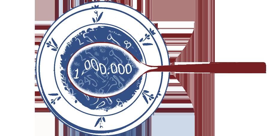 ilustração sopa de numeros